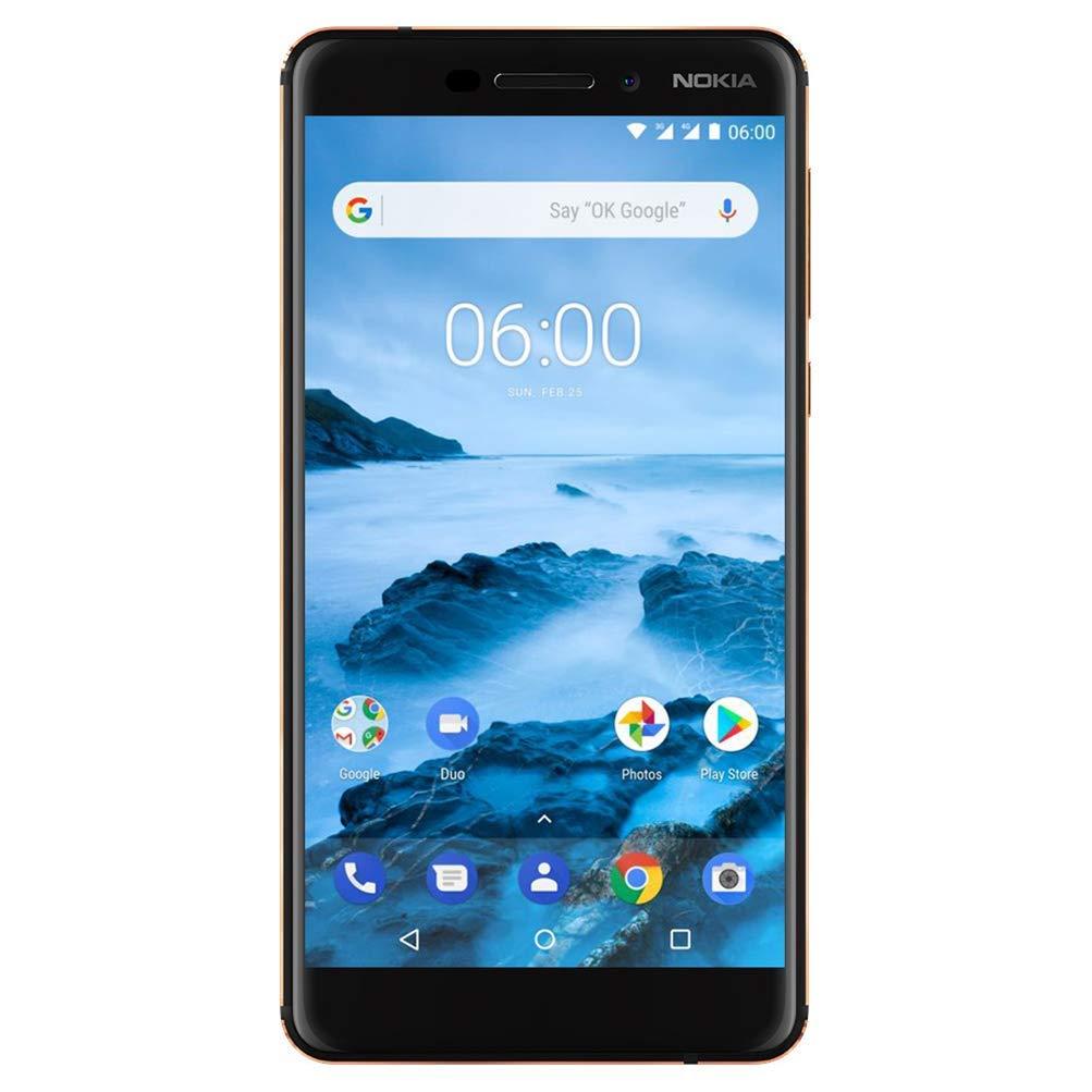 Nokia 6.1 (2018) - Android One (Oreo) - 32 GB - Dual SIM Unlocked Smartphon