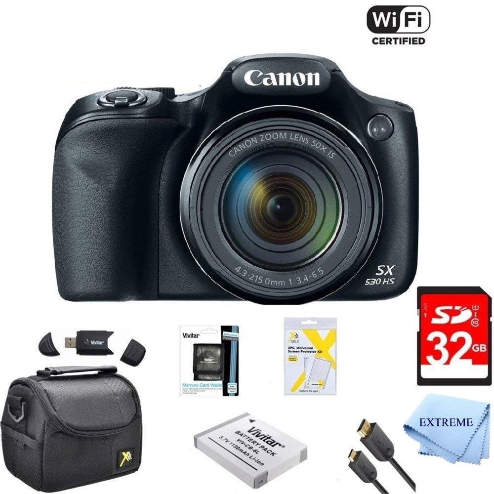 Canon Powershot SX530 HS 16MP Wi-Fi Super-Zoom Digital Camera 50x Optical