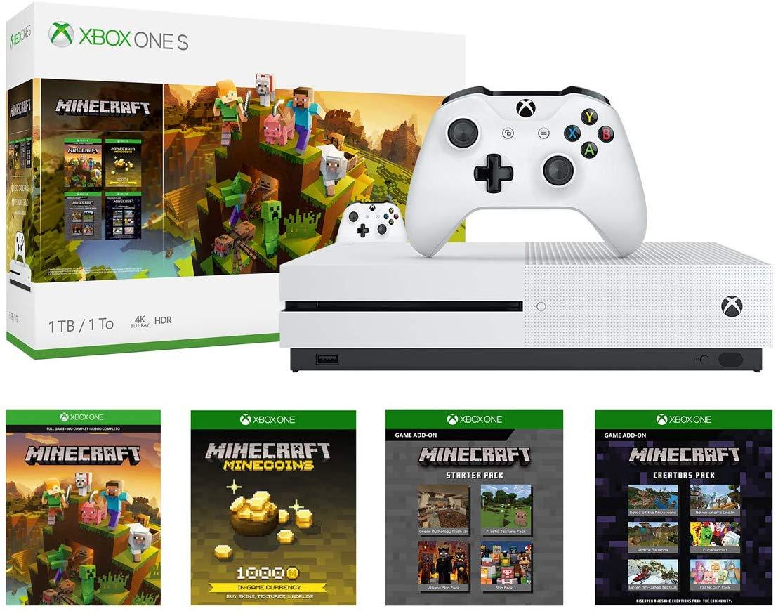 Xbox One S 1TB Console - Minecraft Creators